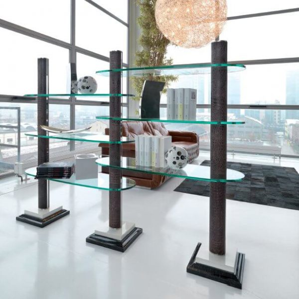 24TURRI Ouverture Leather Etagere