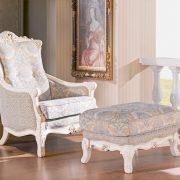 【208西班牙宮廷風格】白色系.休閒腳凳
