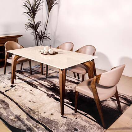 DTB-9811餐桌(160*90*75)+CHR-1488餐椅*6
