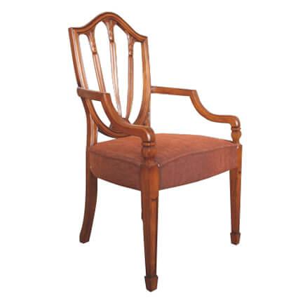 磚紅布扶手椅 CL/720-1