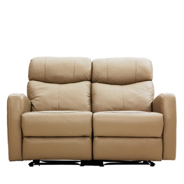 C18040-2人座皮沙發可可1