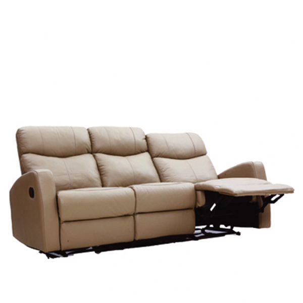 C18040-3人座皮沙發可可1