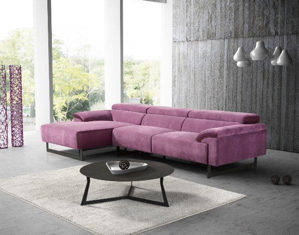 MALIKA (粉紫)L型功能沙發