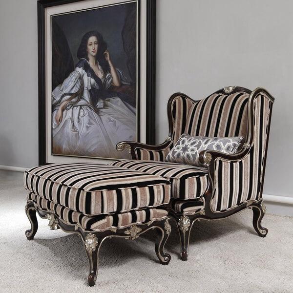米提家居-(1-2)時尚條紋休閒椅組(CO-AF-7E_CO-AF-21A)(全台獨售)