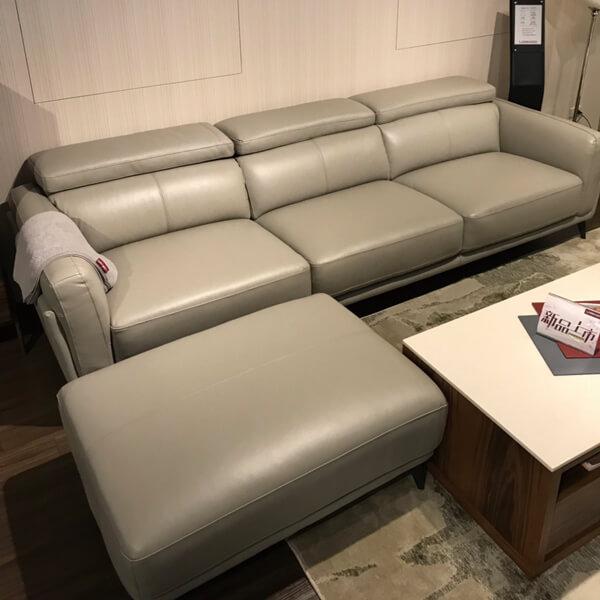 羅蘭索-(1-1)KH5385 100_義大利厚牛皮 大三人座沙發+腳椅(全台獨售)