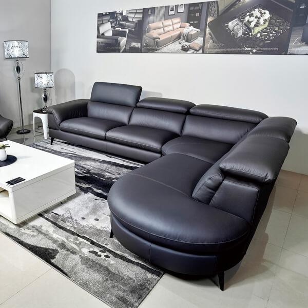 羅蘭索-(1-2)KH5530 100_義大利牛皮海灣L型沙發(全台獨售)