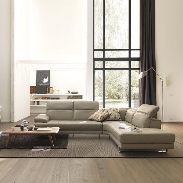NATUZZI EDITIONS-(1-3)ADAMO B878 L型沙發(全台獨售)