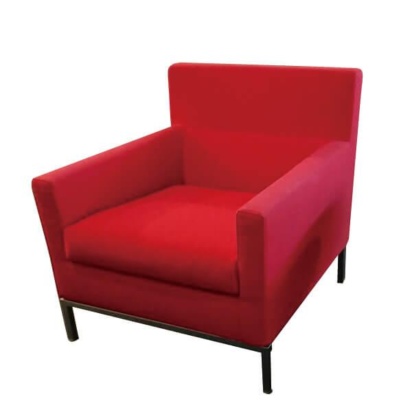 FLOS-(1-2)Zanotta-866布沙發單椅-紅色(全台獨售)