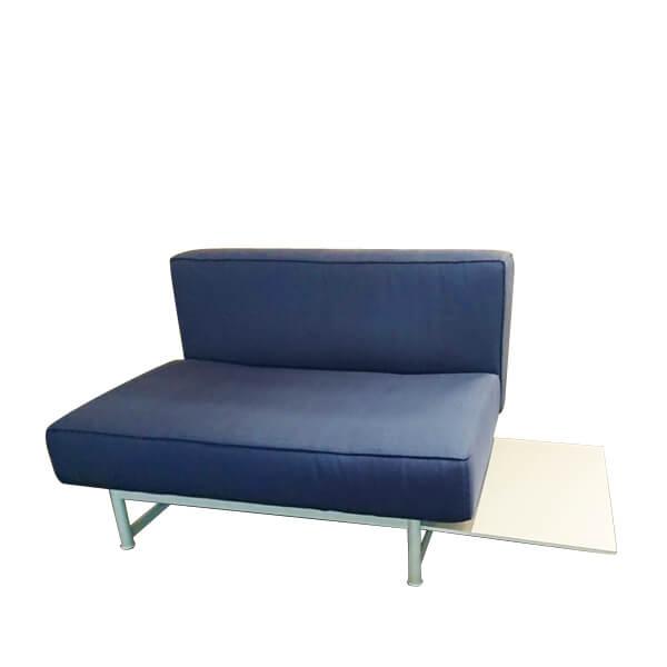FLOS-(1-5)Cassin -260-17、91單主椅藍布沙發+右几(全台獨售)
