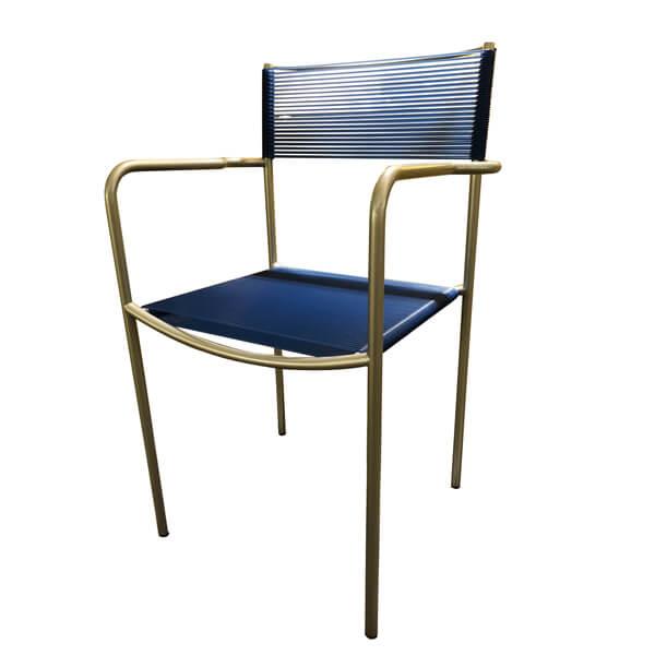 FLOS-(2-3)AS-131、20休閒銀漆透藍椅(全台獨家優惠)