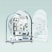 德國肯尼家 小型鍍鉻座鐘 2