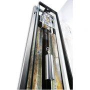德國肯尼家 限量超薄設計鰭狀物裝飾擒縱系統掛鐘 3