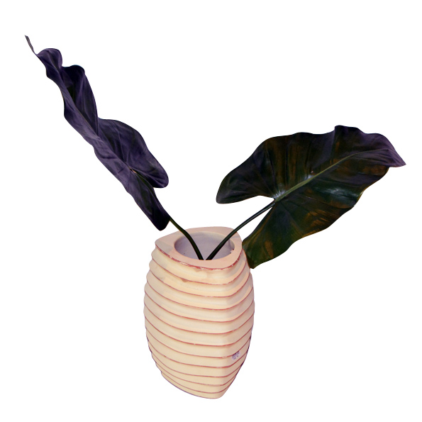 A-023 木製花器 (Ø20x31h)$1,500