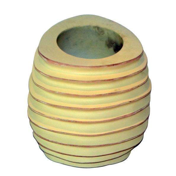 A-024 木製花器 (Ø22x23h)$1,100